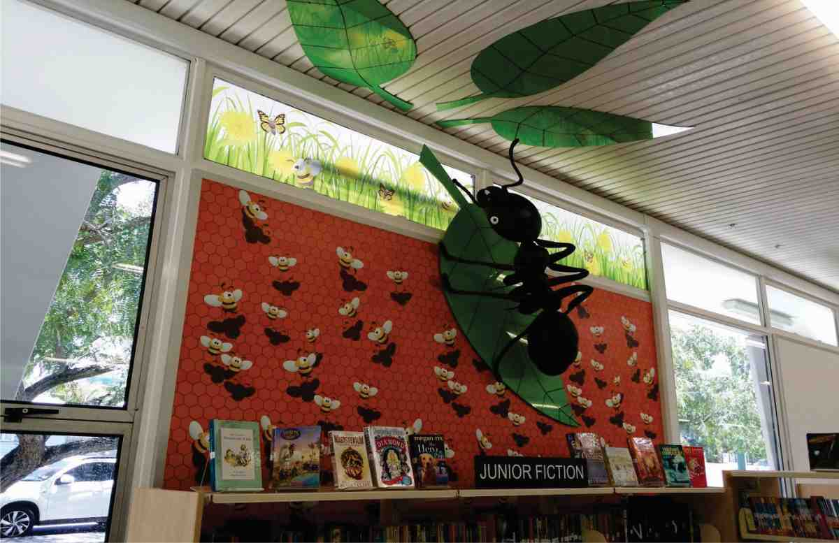 giant textile bug carina childrens library