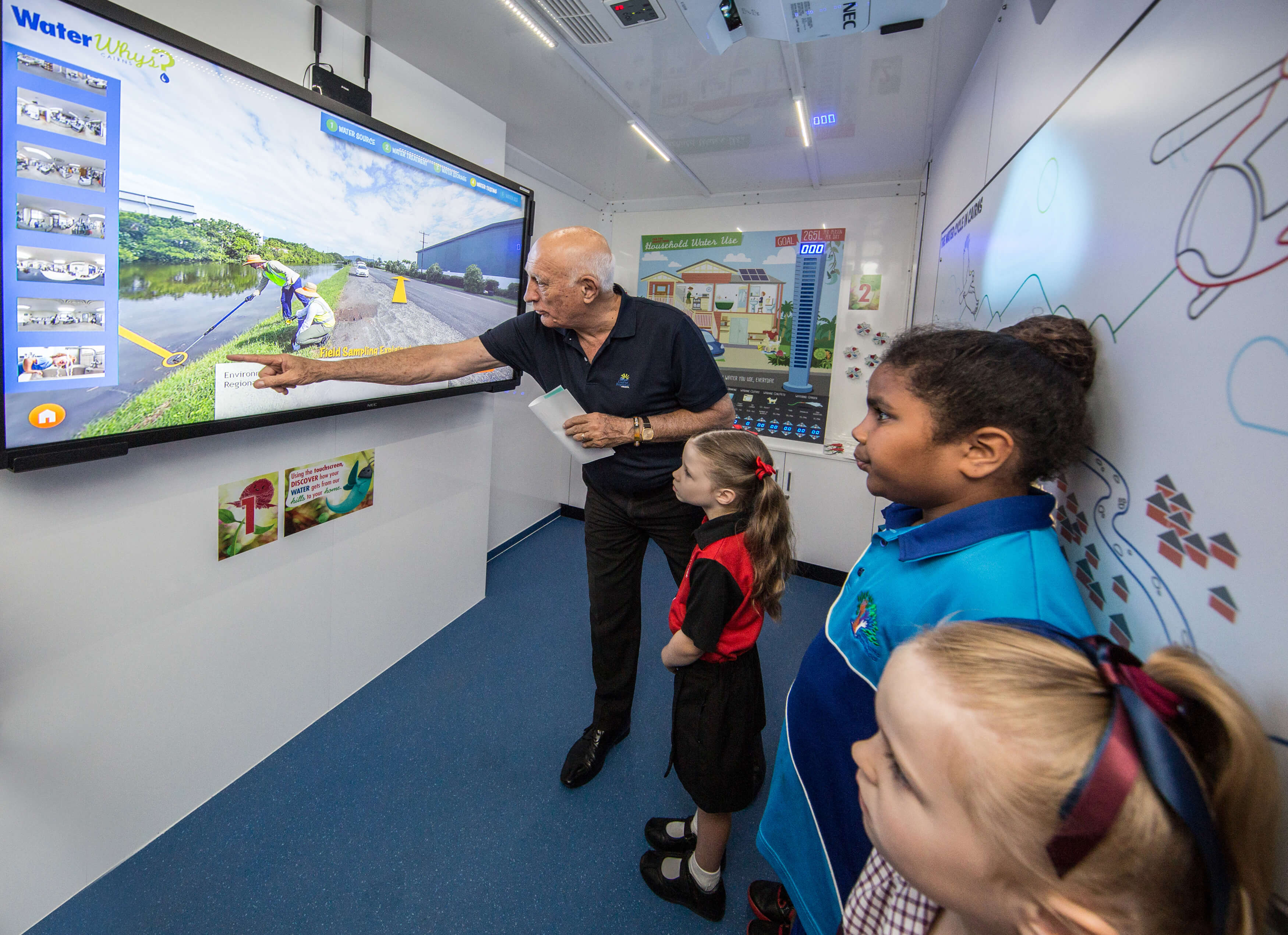 cairns water whys touchscreen interactive