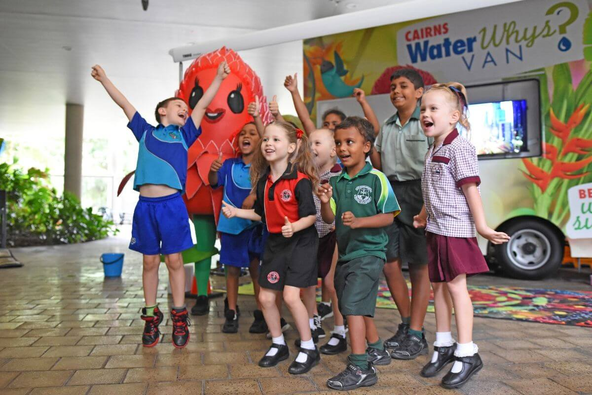 children excited about being water whys