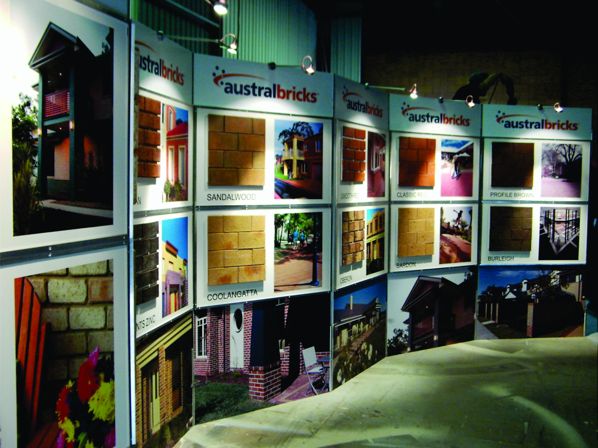 austral bricks display