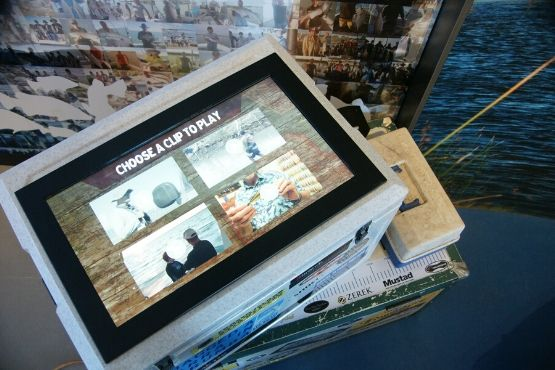 fishing stories touchscreen